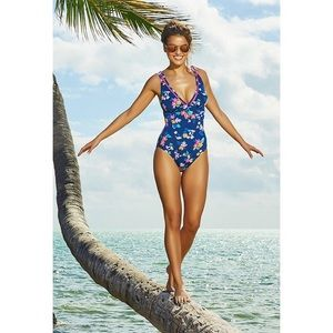 Vera Bradley Amanda Floral One Piece Swimsuit